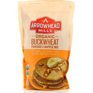 Arrowhead Mills, خليط كعك الحنطة السوداء العضوية و كعك الوفل، 26 أونصة (737 جم)