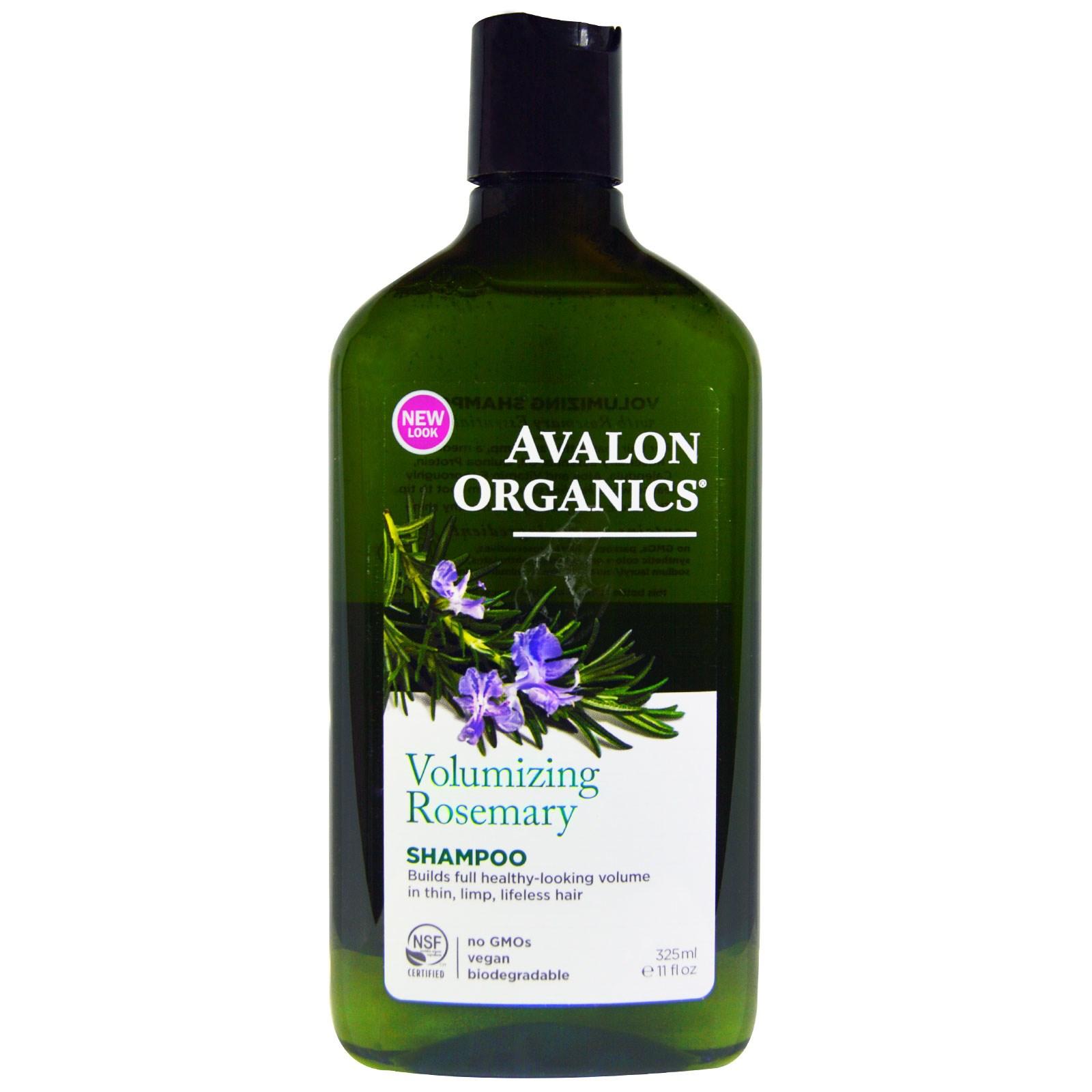 Avalon Organics, Shampoo, Volumizing, Rosemary, 11 fl oz (325 ml) - iHerb