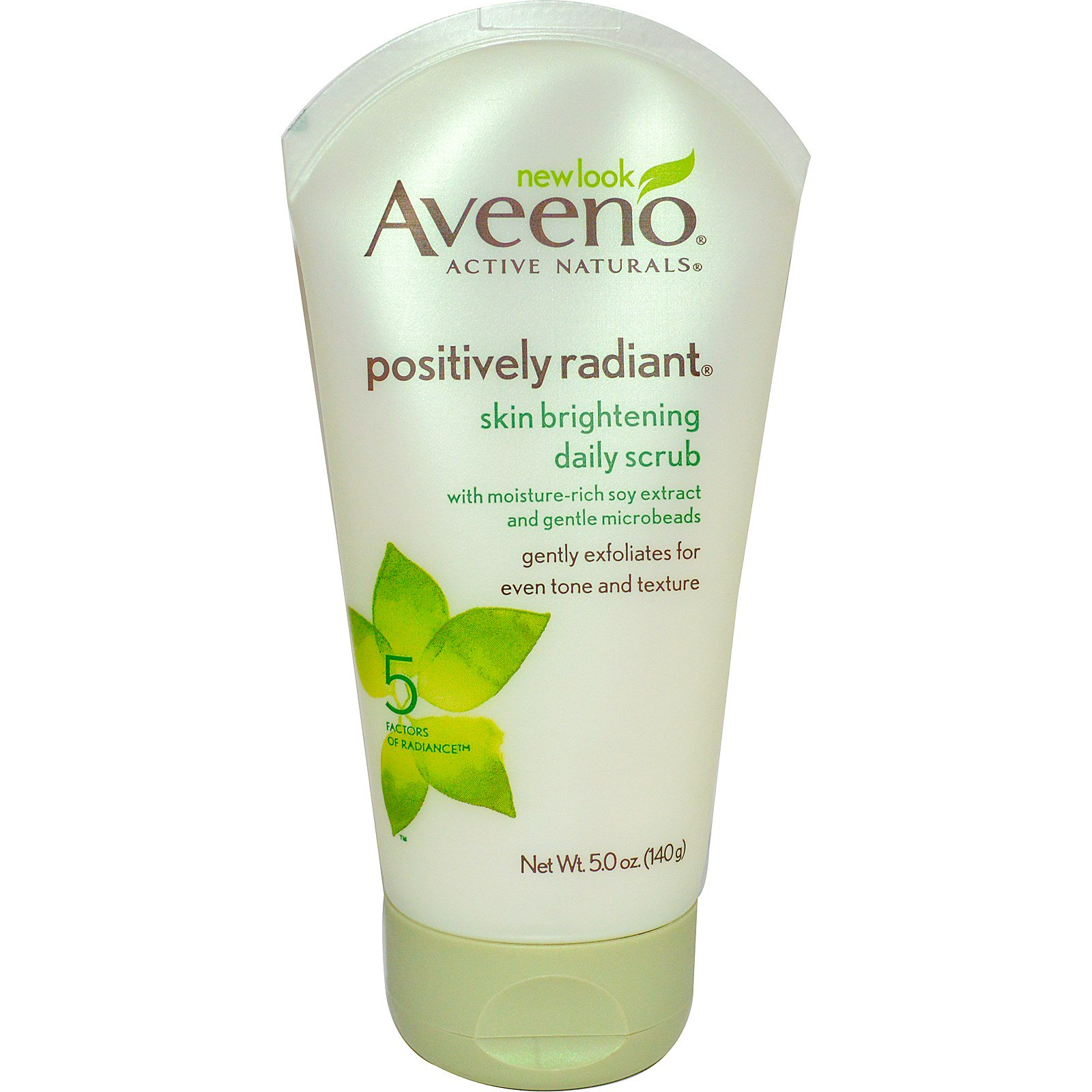 Aveeno 5 Daily Positively Scrub Skin Ounce Radiant Brightening