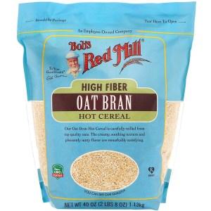 Bob's Red Mill, وجبة حبوب الإفطار الساخنة المصنوعة من نخالة الشوفان الغني بالألياف، 40 أونصة (1.13 كجم)