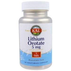 KAL, オロチン酸リチウム, 5 mg, 60錠 (ベジカプセル)