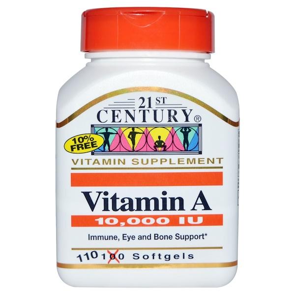 21st Century, ビタミンA, 10,000 I.U., ソフトジェル 110 粒