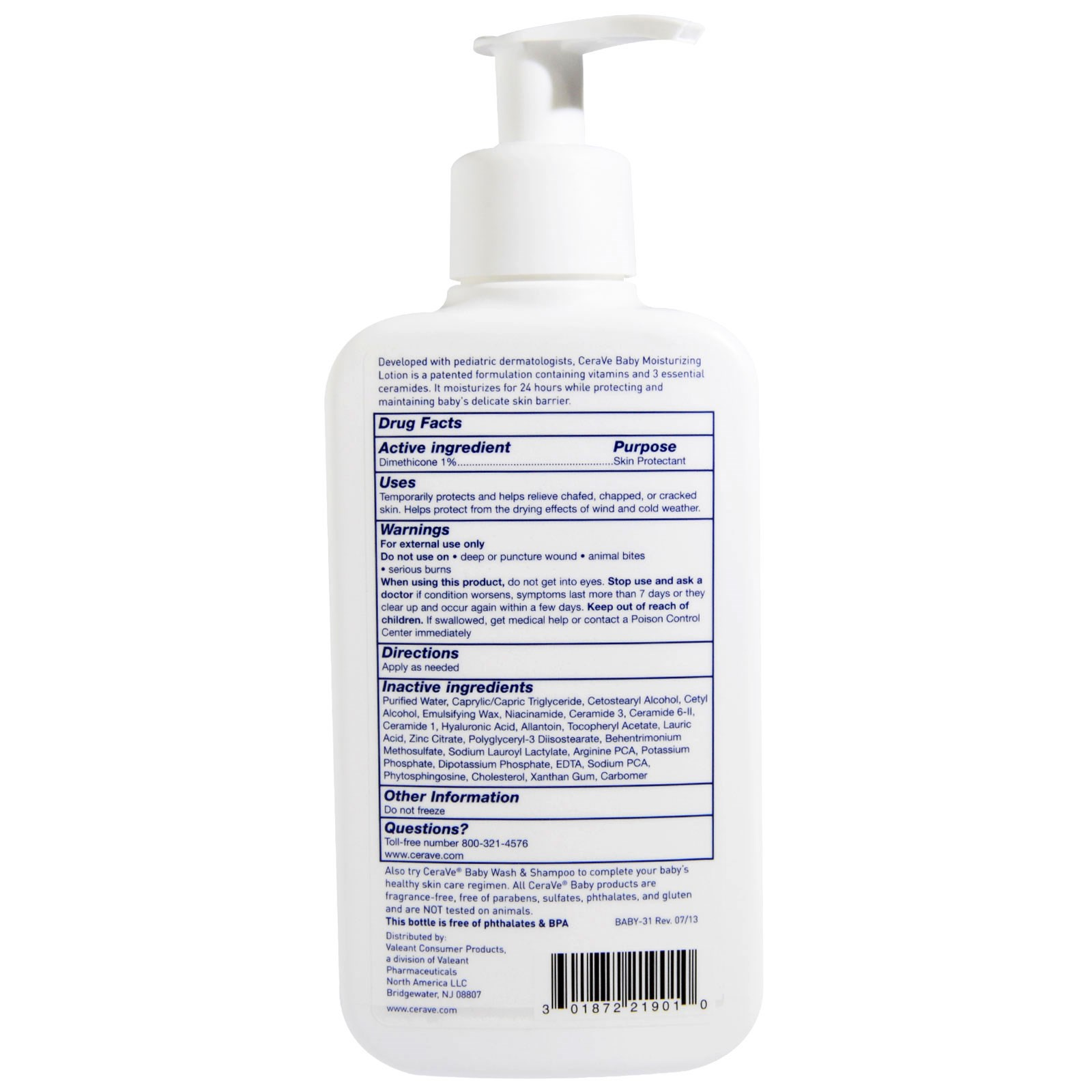 CeraVe. 嬰兒保濕乳液。8盎司(237ml) - iHerb.com