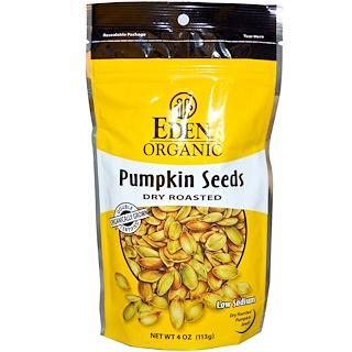 Eden Foods, بذور اليقطين العضوية، محمصة وجافة، 4 أوقية (113 غ)