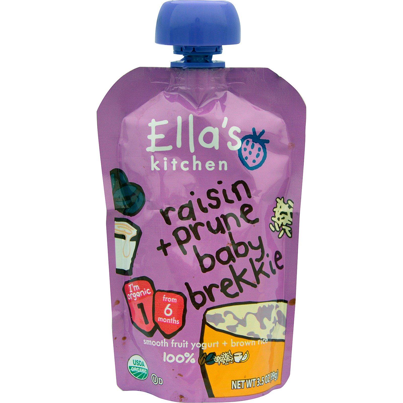 ellas kitchen baby food cabinets set ella s raisin prune brekkie stage 1 3 5 oz 99 g