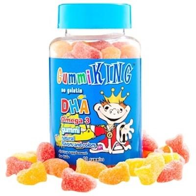 GummiKing, علكة أوميغا 3 DHA للأطفال، 60 علكة