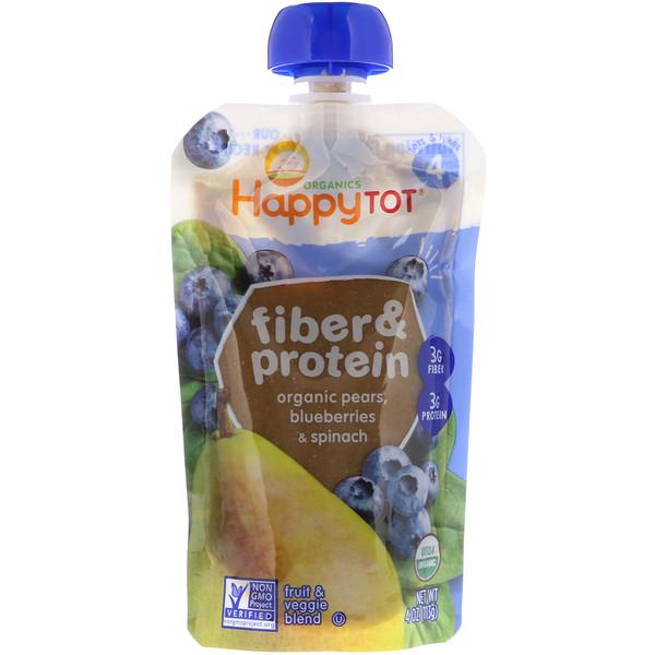 Happy Family Organics Happytot Fiber Protein Organic