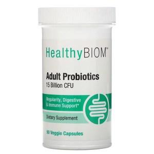 HealthyBiom, بروبيوتيك للبالغين، 15 مليار وحدة تشكيل مستعمرة، 90 كبسولة نباتية