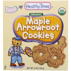 Healthy Times, كعك Arrowroot العضوي، القيقب، 5 أوقية (140 جم) (Discontinued Item)