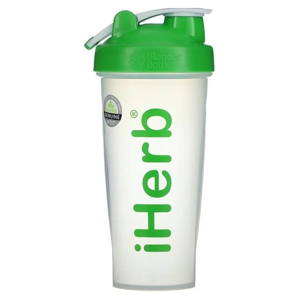 iHerb Goods, ブレンダーボール付きブレンダーボトル、グリーン、28 oz