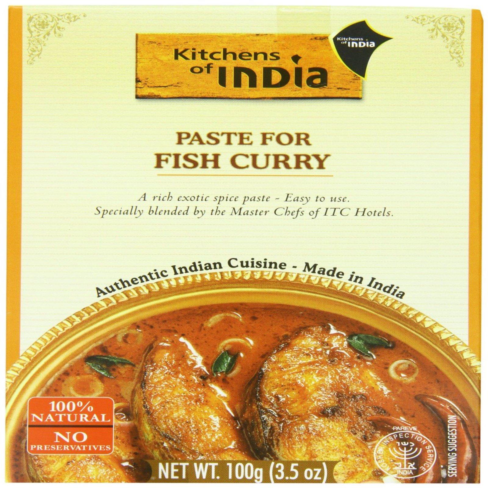 kitchens of india cheap backsplash for kitchen paste fish curry 3 5 oz 100 g iherb com