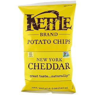 Kettle Foods, رقائق البطاطا، New York Cheddar، 5 أونصة (142 غ)