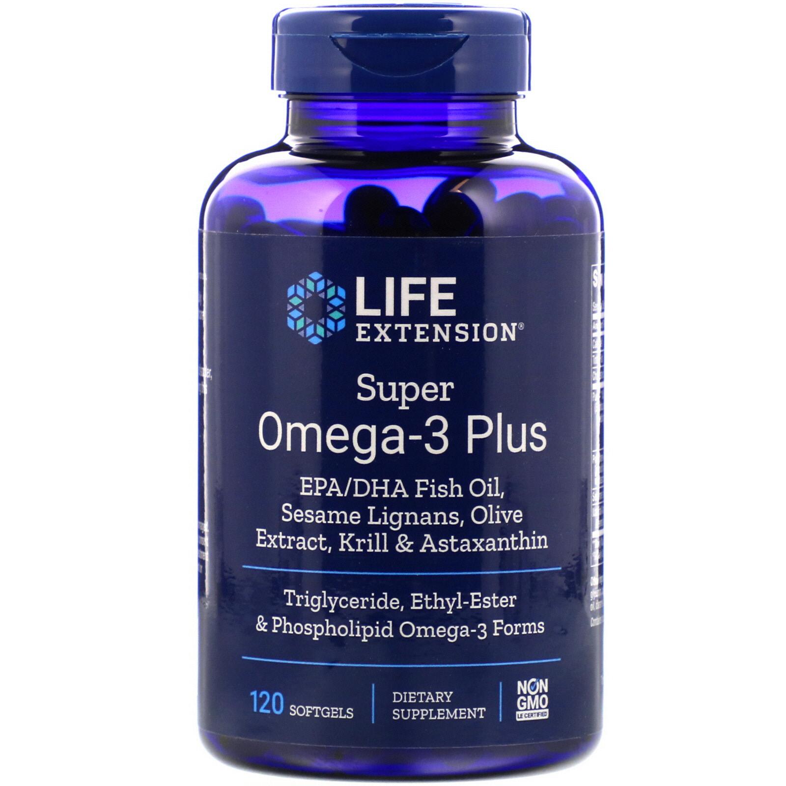 Life Extension Super Omega-3 Plus 120 Softgels - iHerb