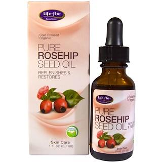 Life Flo Health, زيت بذور ثمار الزهور النقي، للعناية بالبشرة، أونصة واحدة (30 مل)