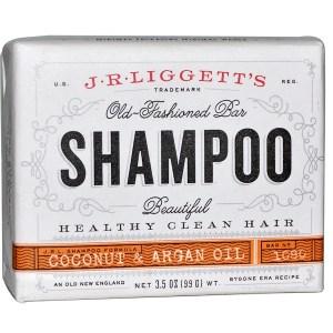 J.R. Liggett's, قطع الصابون ذات الطابع القديم، شامبو، جوز الهند وزيت الأرغان، 3.5 أوقية (99 غرام)