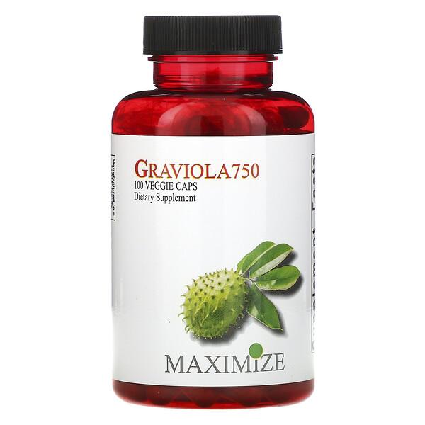 Maximum International, Graviola 750, 100 Veggie Caps