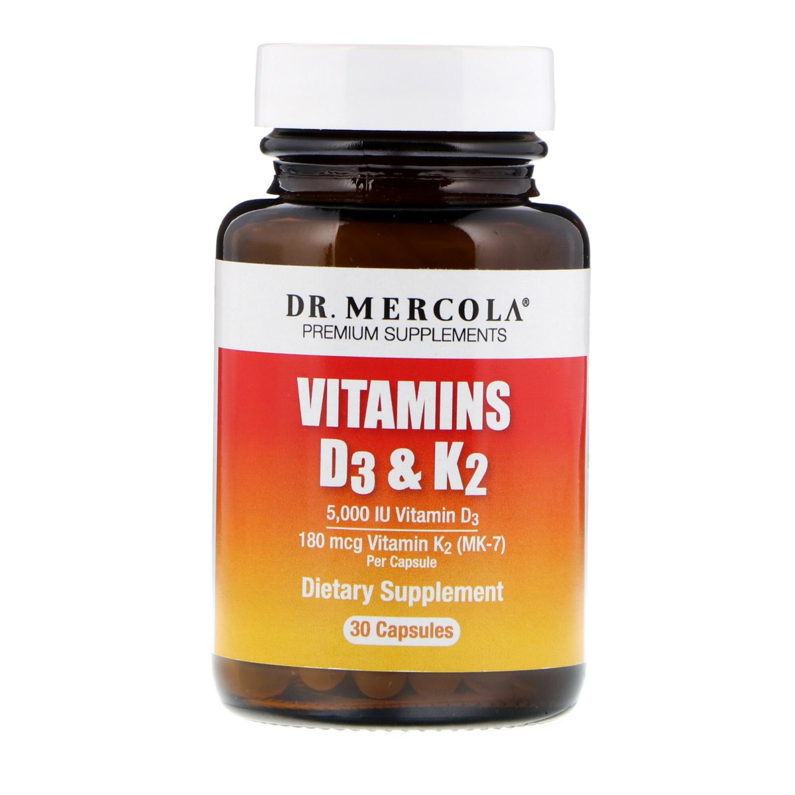 Dr. Mercola, 維生素D3和K2,30粒膠囊 - iHerb.com