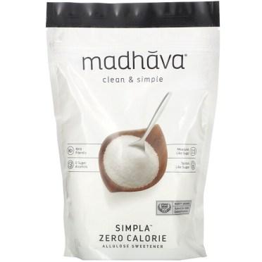 Madhava Natural Sweeteners, Clean & Simple, Simpla Zero Calorie, Allulose Sweetener, 12 oz (340 g)