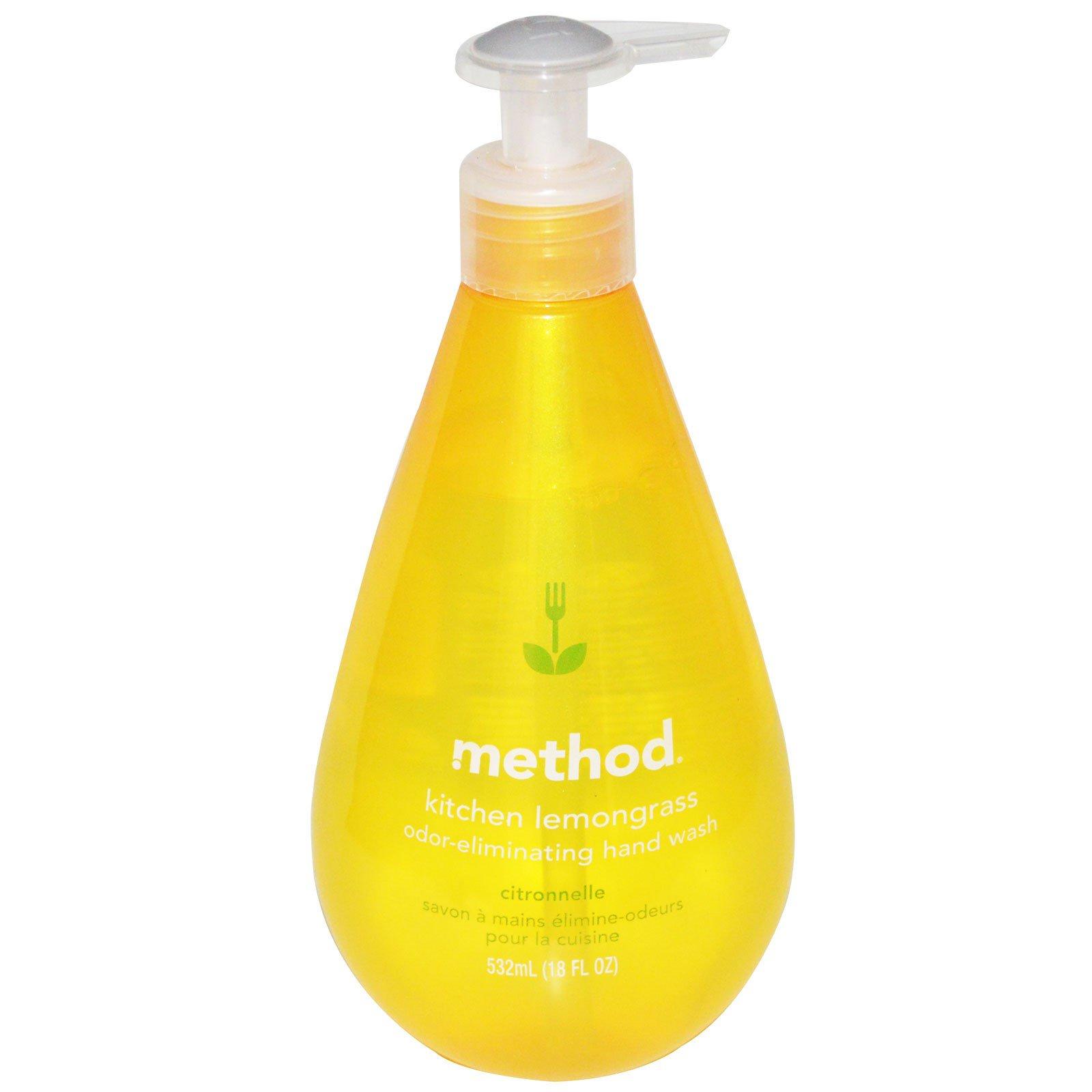 kitchen hand soap worktops method odor eliminating wash lemongrass 18 fl oz 532