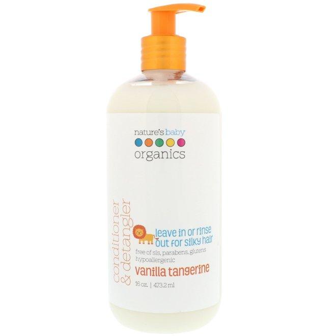 Nature's Baby Organics, Conditioner & Detangler, Vanilla Tangerine, 16 fl oz (473.2 ml)