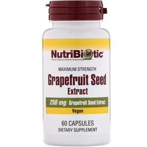 NutriBiotic, グレープフルーツシードエキス, 250 mg , 60錠