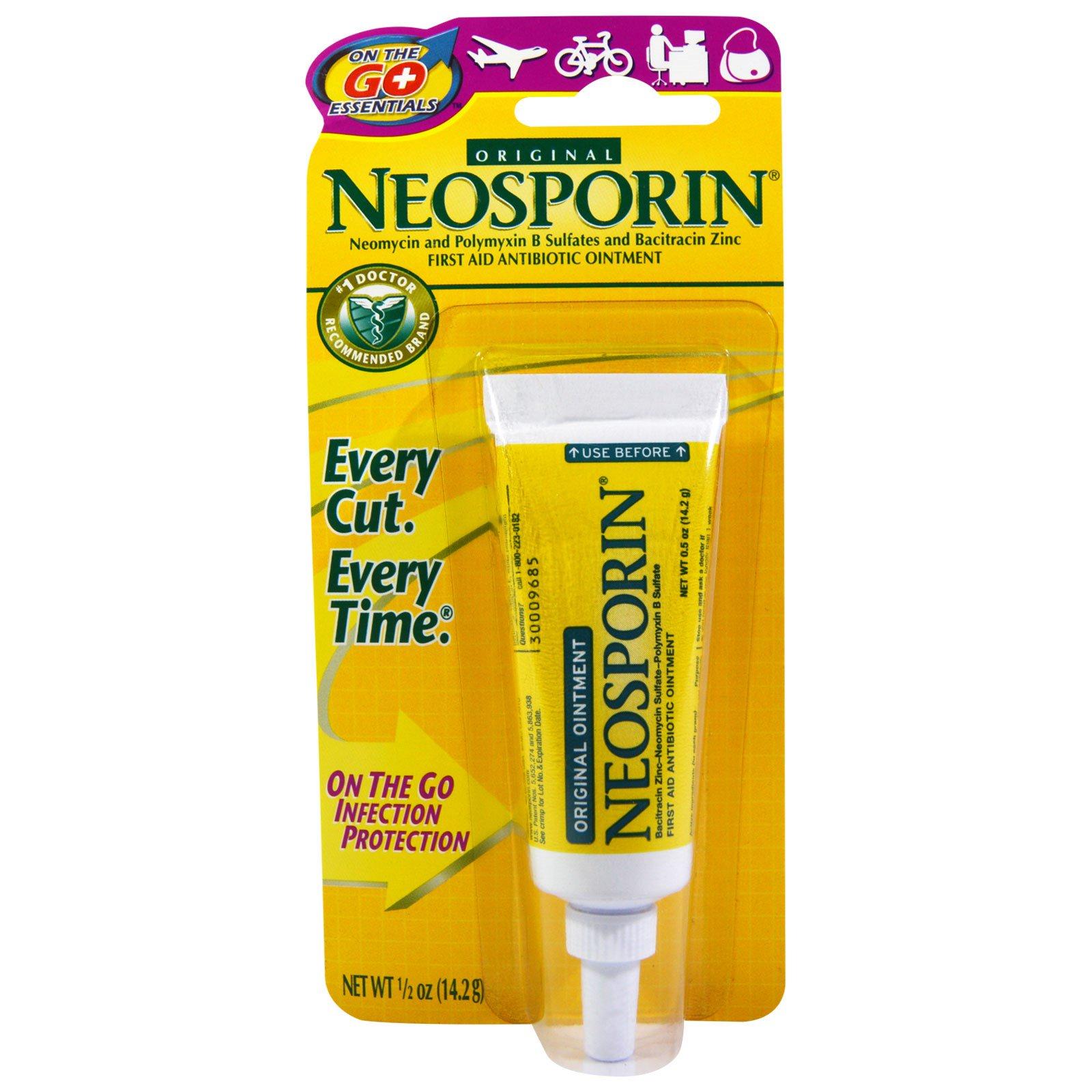 Neosporin. 急救抗生素軟膏。原裝。1/2盎司(14.2克) - iHerb