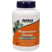 Now Foods, Citrate de magnésium, 120 capsules végétariennes
