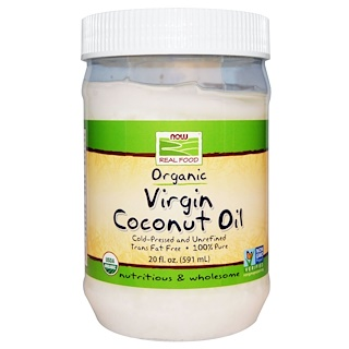 Now Foods,  coconut oil العضوي النقي، 20 أونصة سائلة(591 مل)