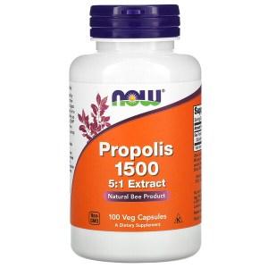 Now Foods, プロポリス1500、ベジカプセル100粒