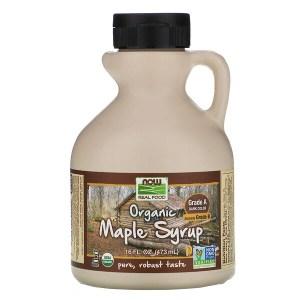 Now Foods, شراب سكر قيقب عضوي، ممتاز درجة أولى، لون غامق، 16 اوقية سوائل (473 مل)