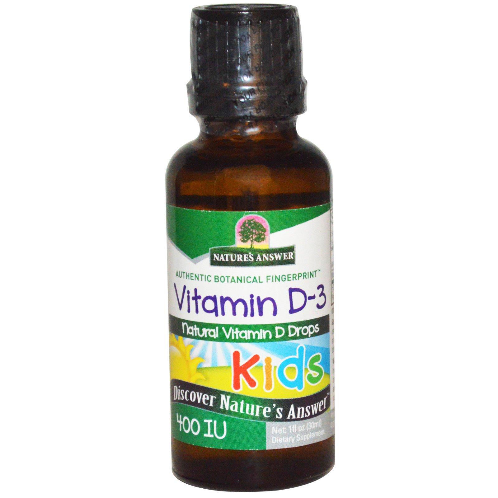 Nature S Answer Kids Vitamin D 3 400 Iu 1 Fl Oz 30 Ml
