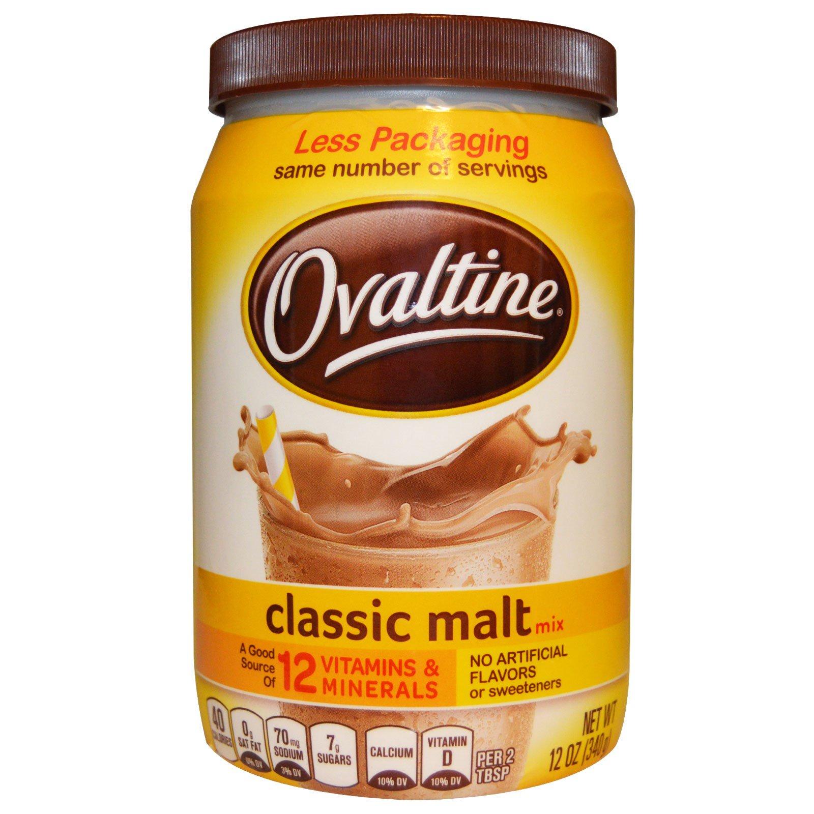 Ovaltine Classic Malt Mix Caffeine Free 12 oz 340 g