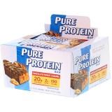 Pure Protein, قطع شوكولاتة بالفول السوداني والكاراميل، 6 قطع، كل قطعة 1.76 أوقية (50 جم)