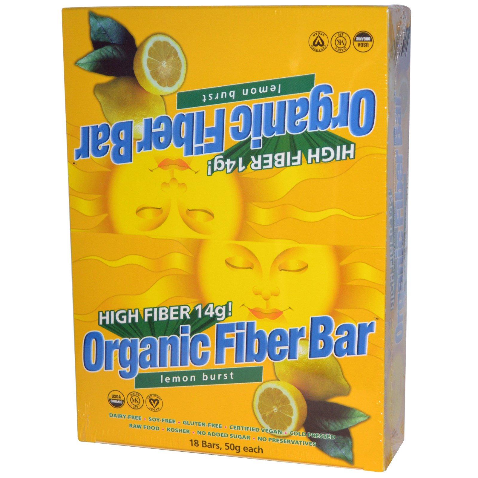 Renew Life Organic Fiber Bar Lemon Burst 18 Bars 50 g ...