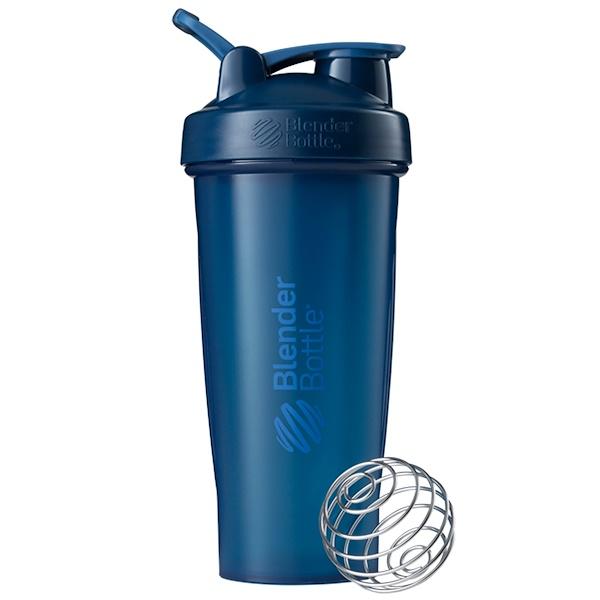 Blender Bottle, BlenderBottle、クラシック (ループ付き)、ネイビー、28 oz