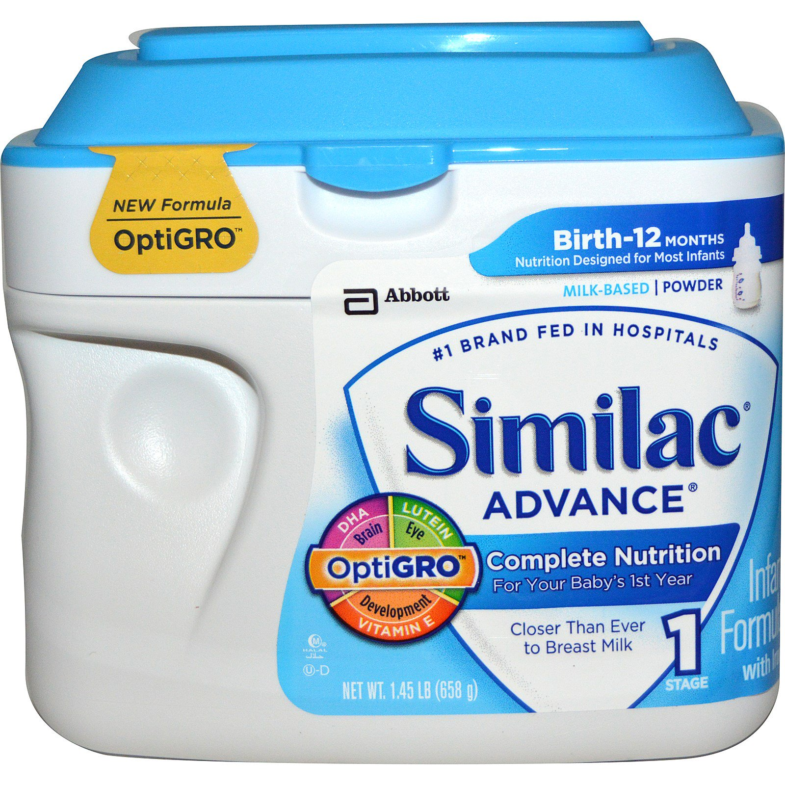 Similac Advance Infant Formula with Iron Stage 1 1.45 ...