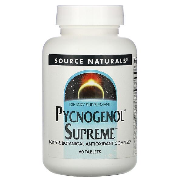 Source Naturals, ピクノジェノールスプリーム、60 錠