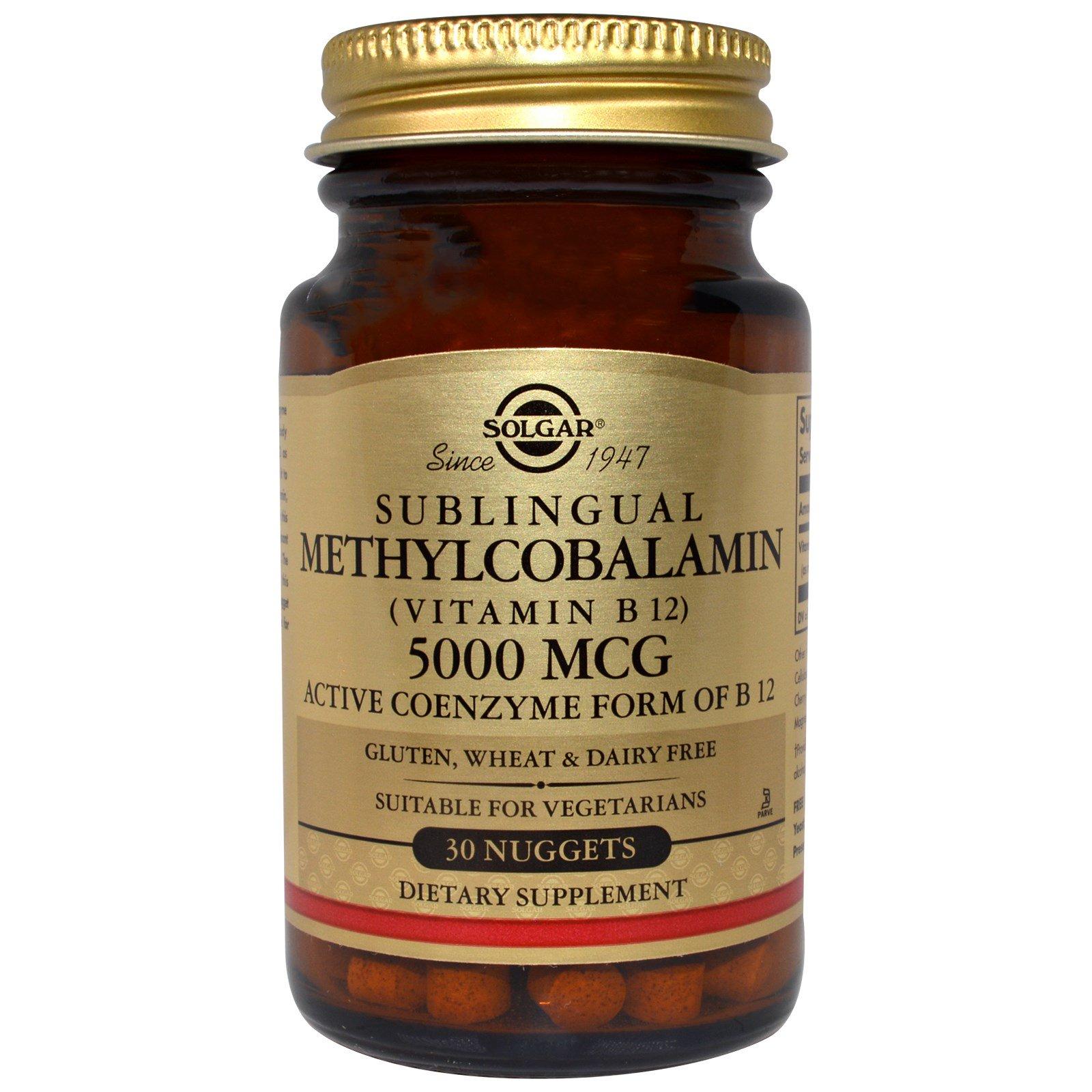 Solgar Methylcobalamin (Vitamin B12) 5000 mcg 30 ...