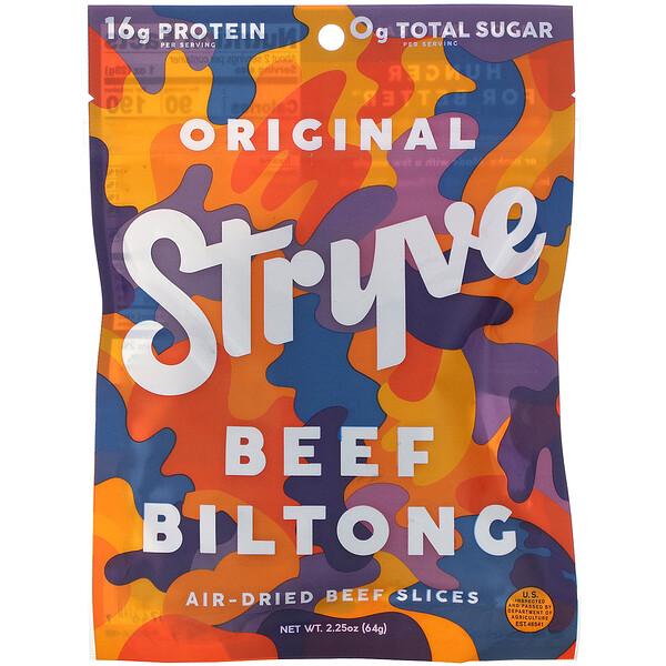 Stryve Foods Beef Biltong Air-Dried Beef Slices ...