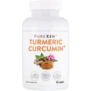 Xenadrine, PureXen، كركمين الكركم+، 60 كبسولة