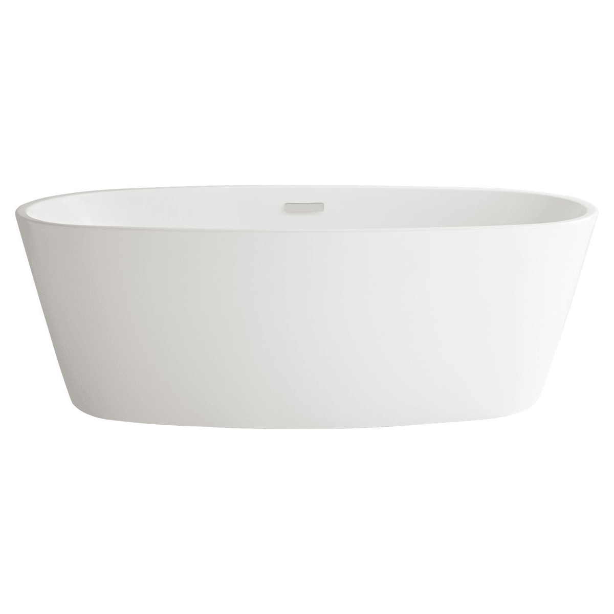 American Standard 2765 034 020 White Coastal Serin 68 3 4 Acrylic Free Standing Soaking Bathtub With Center Drain Faucet Com