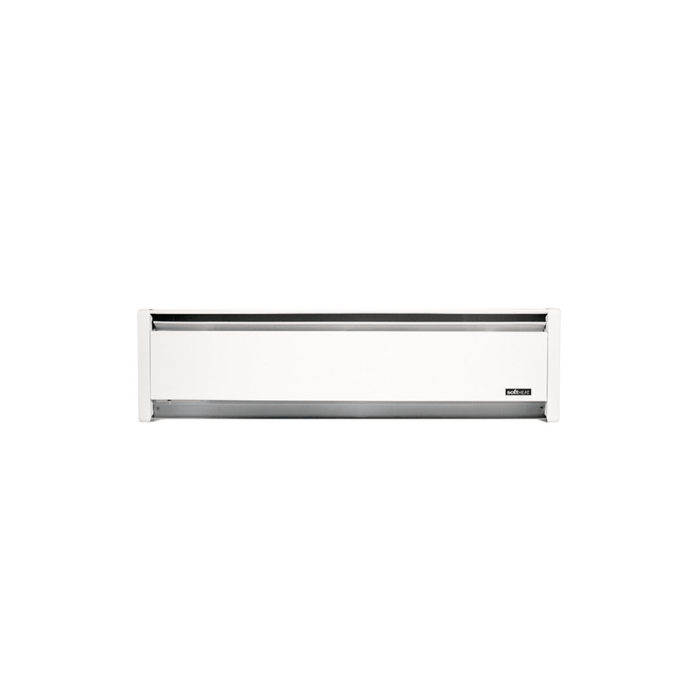 medium resolution of 71 inch wide 4265 btu 208 240 volt 1250 watt self contained hydronic baseboard heater with right hand wiring from the softheat series