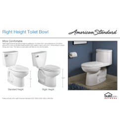 american standard 215ba 104 020 white cadet pro round front two piece toilet with everclean surface powerwash rim and right height bowl faucet com [ 1968 x 1200 Pixel ]