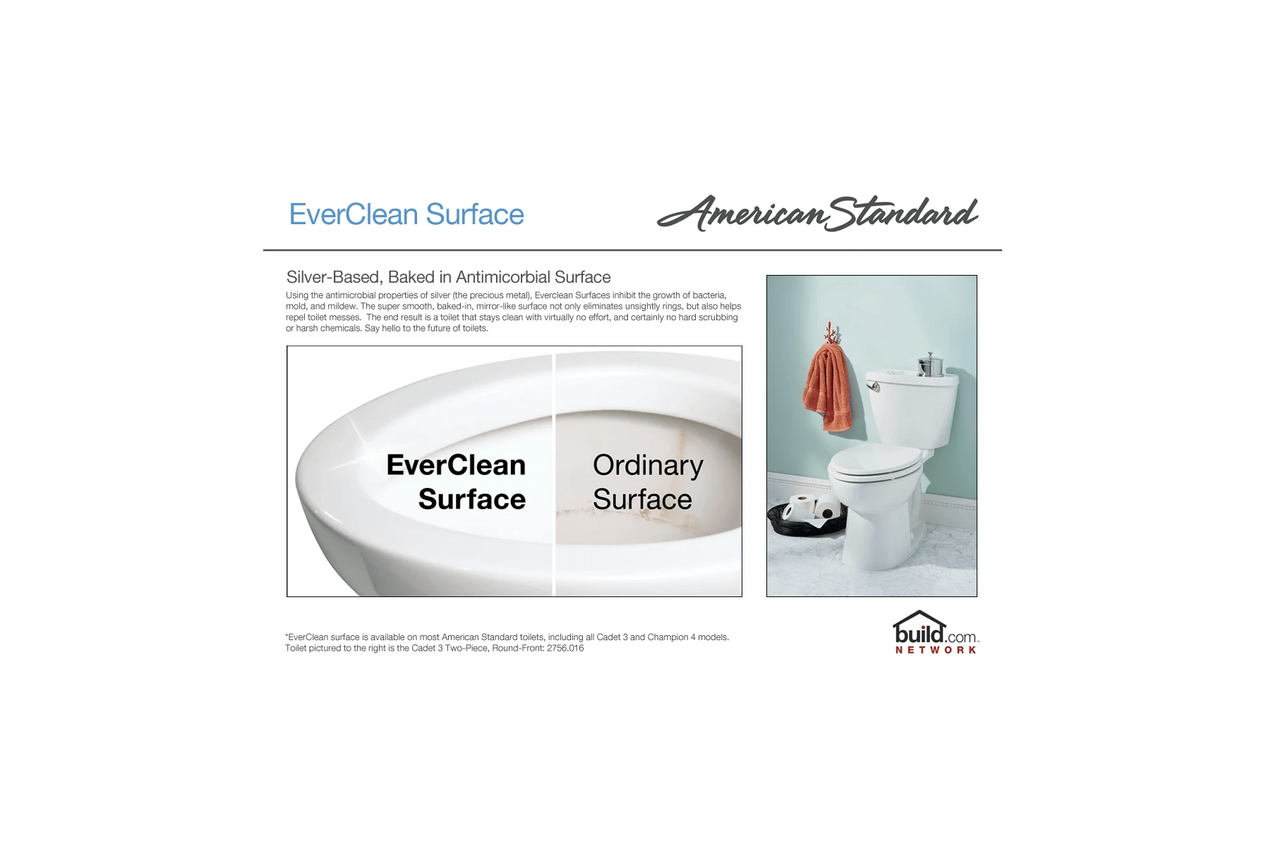 hight resolution of american standard 215ba 104 020 white cadet pro round front two piece toilet with everclean surface powerwash rim and right height bowl faucet com