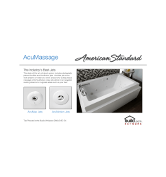 american standard 2772 018w 020 white cadet 60 acrylic whirlpool bathtub with reversible drain and acumassage jets faucetdirect com [ 1961 x 1200 Pixel ]