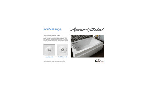 small resolution of american standard 2772 018w 020 white cadet 60 acrylic whirlpool bathtub with reversible drain and acumassage jets faucetdirect com