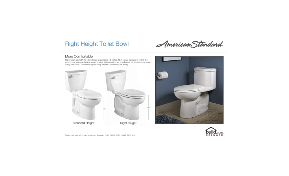 medium resolution of american standard 2891 128 020 white boulevard elongated luxury one piece toilet with concealed trapway everclean surface powerwash rim and right height