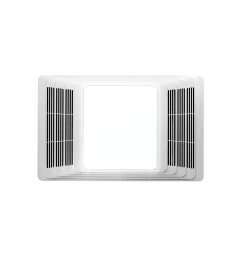 broan 655 white 70 cfm 4 sone ceiling mounted hvi certified bath fan with heater and light faucet com [ 1856 x 1200 Pixel ]