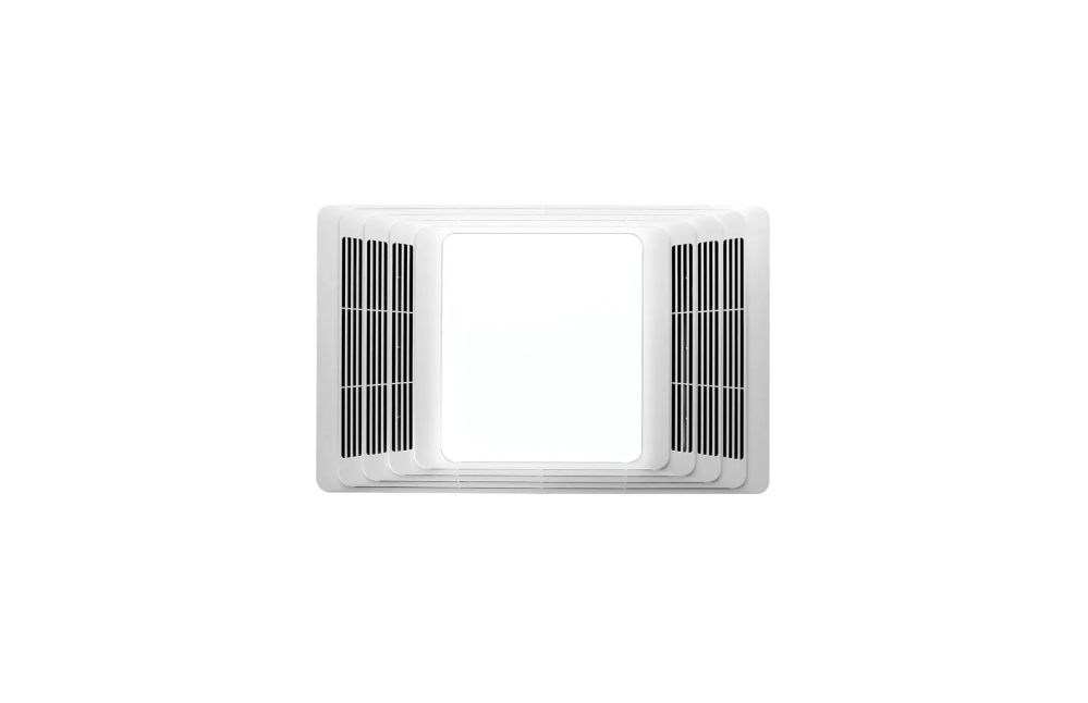 medium resolution of broan 655 white 70 cfm 4 sone ceiling mounted hvi certified bath fan with heater and light faucet com