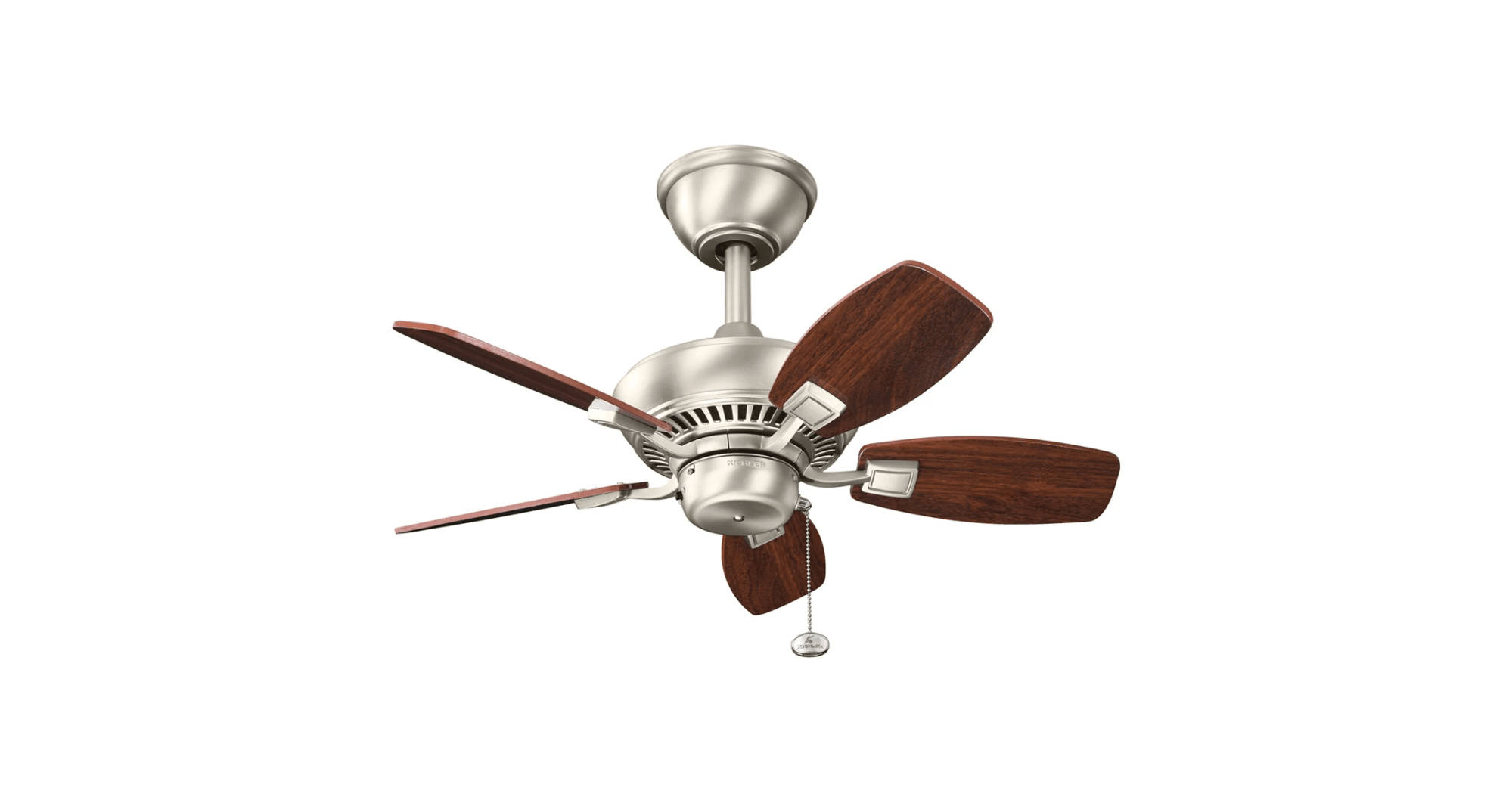 hight resolution of kichler 300103wh white canfield 30 indoor outdoor ceiling fan with blades and downrod lightingshowplace com